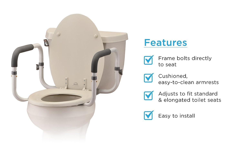 NOVA Medical Products Toilet Support Rails, White, 4 Pound NOVA