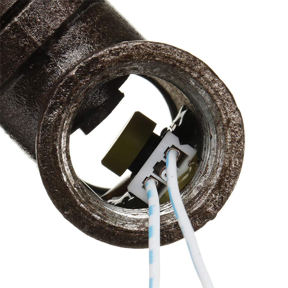 KingLan Hierro Steampunk Vintage Interruptor De Luz De V/álvula De Parada De 1//2 Inch con Cable