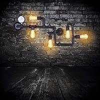 Lámpara de pared retro industrial de la pipa