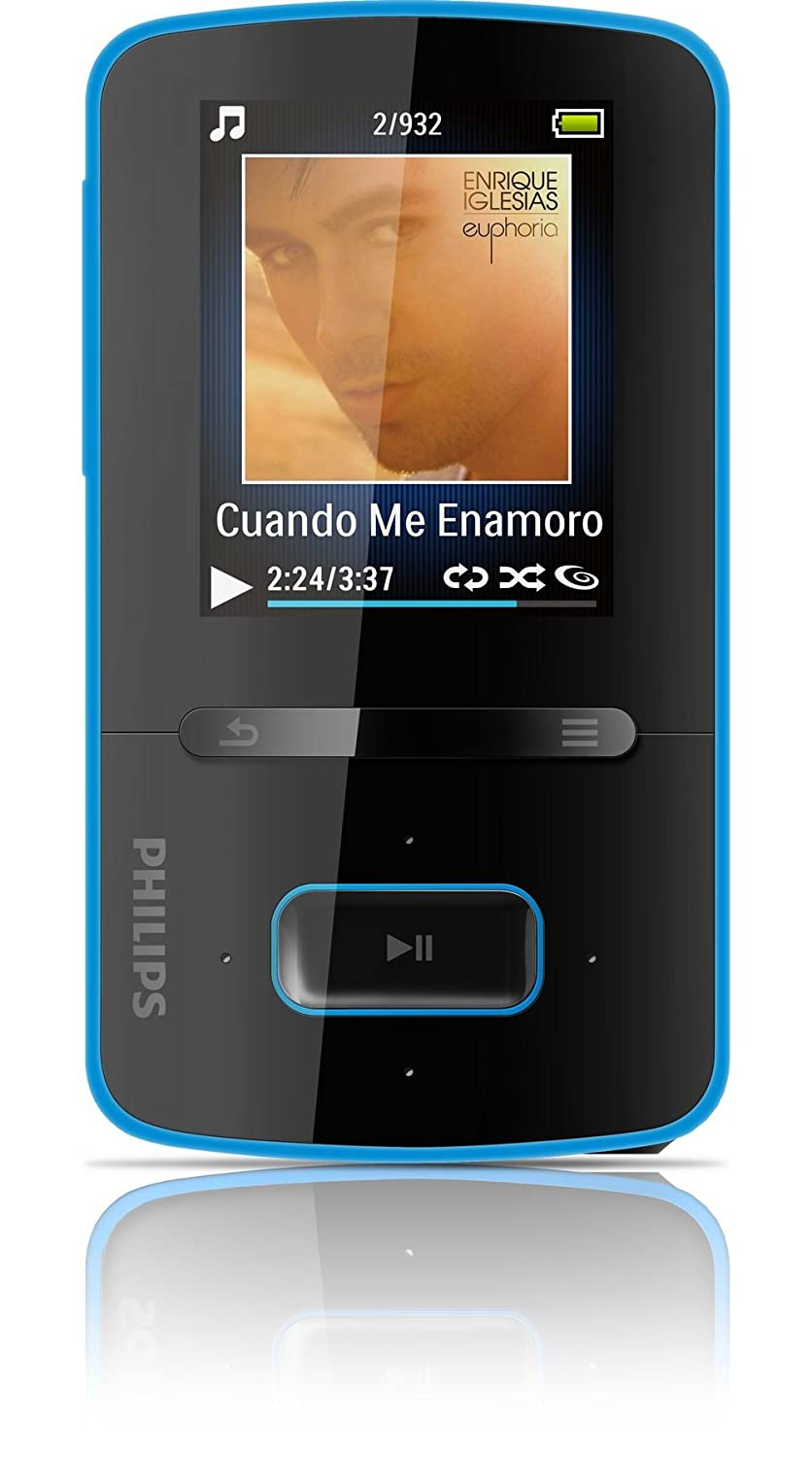 philips gogear vibe 8gb mp3 player blue amazon co uk audio hifi rh amazon co uk Example User Guide Kindle Fire User Guide