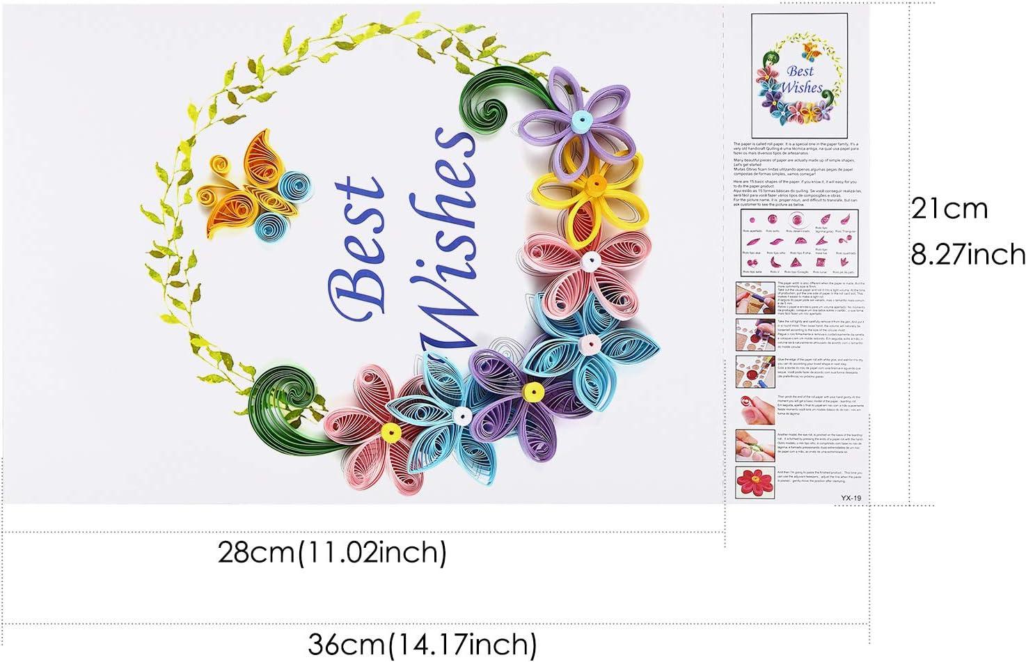filigranes Muster Filigran. A4 Quilling-Kunstvorlage Origami-Vorlage 10 St/ück PVC-Bl/ätter Wandkunst Rancco 20 St/ück Quilling-Papier-Schablonen