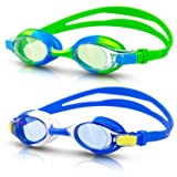 rabofly Swim Goggles, Kids Swimming Goggles No Leaking Anti Fog UV Protection Clear Vision Triathlon Goggles for Adult Youth Childâ?¦