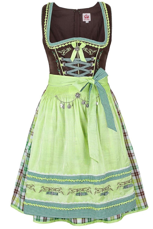 Damen Spieth & Wensky Dirndl kurz braun-grün, braun-grün,