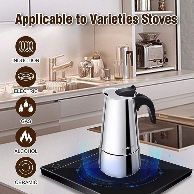 Amazon.com: Godmorn Stovetop - Cafetera de espresso, moka ...