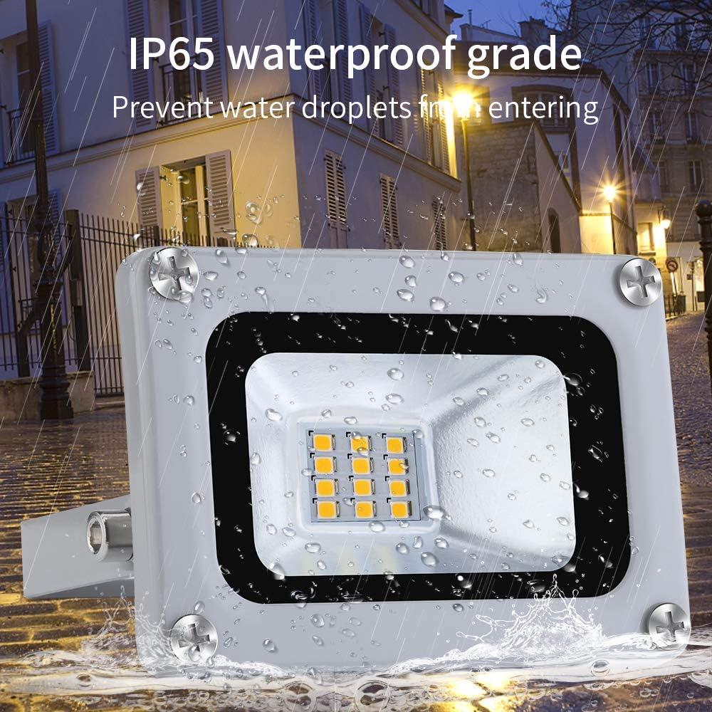 12V Focos LED Exterior Proyector 10W 800lm Floodlight Impermeable IP65 6500K Blanco Frío Reflector Foco para Jardín, Garaje, Campo Deportivo [Clase de eficiencia energética A+]: Amazon.es: Iluminación