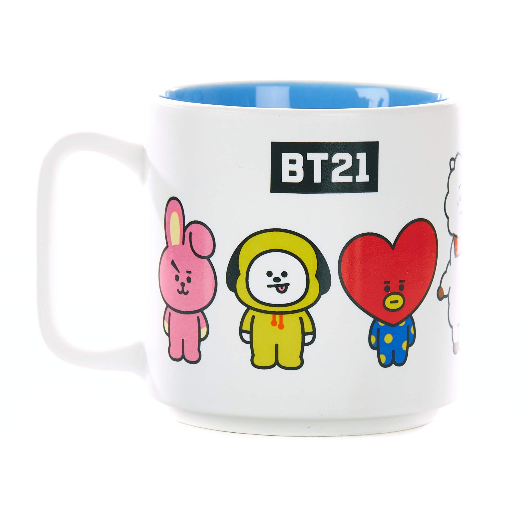 Paladone BT21 Favourite Characters-Officially Licensed Novelty Drinking Mug, Ceramic, White