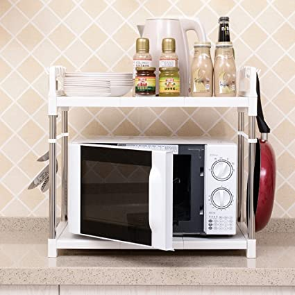 Amazon.com: LXY 2-layer Microwave Oven Racks Storage Rack Oven Rack on kitchen pot racks, kitchen sink racks, kitchen slide out racks, kitchen pantry racks, kitchen pan storage racks,