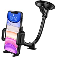 GVTECH Car Phone Holder, Universal Windscreen Car Mount Grip Flexible Long Arm Windshield Car Cradle with Extra…