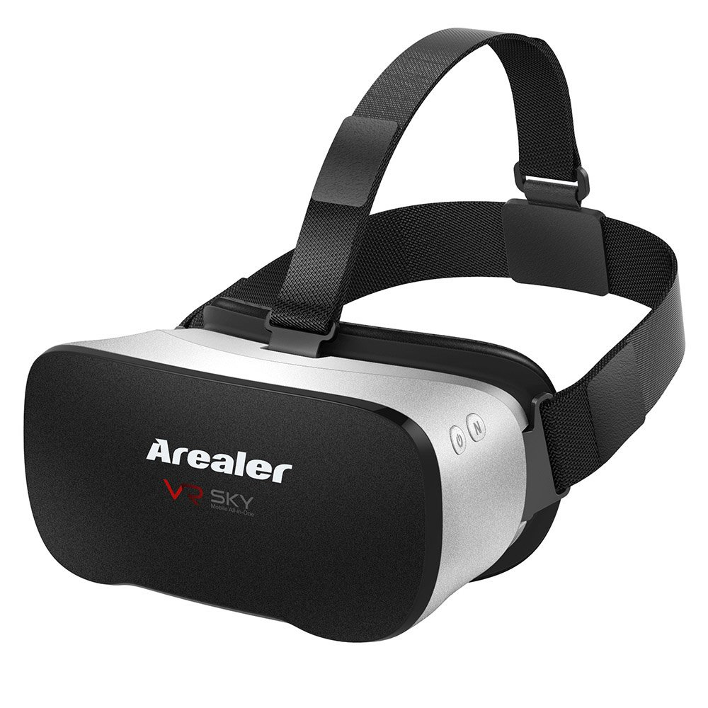 Docooler 3D VR Headset Glasses All-in-one Machine 1080p 5.5Inch TFT 100°FOV Supports 70Hz FPS 2D / 3D / Panorama / Three-dimensional Immersive WiFi Bluetooth 4.0 w /USB port TF Card Slot US Plug
