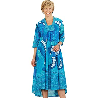 smithsonian blue hawaii patio dress at amazon women s clothing store