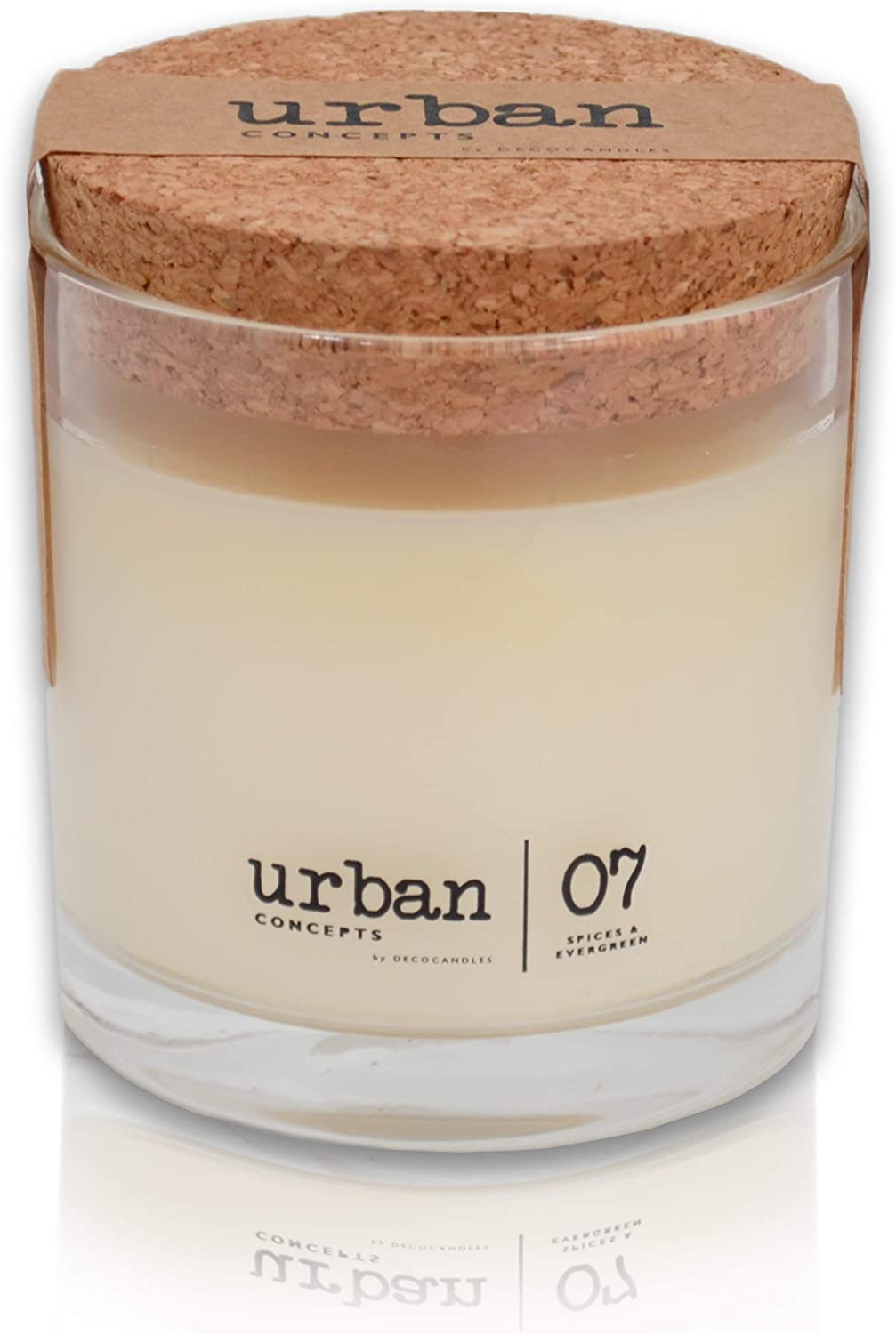 DECOCANDLES Urban Concepts Cozy - Mélange of Spices & Evergreen - Highly Scented Candle - Long Lasting - Hand Poured in The USA - Signature Scent for The Bohemian Hotel Asheville, NC - 6.7 Oz.