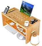 ROYAL CRAFT WOOD Standing Desk for Back Pain Relief, Bamboo Stand Up Desk Organizer with Monitor Stand Riser