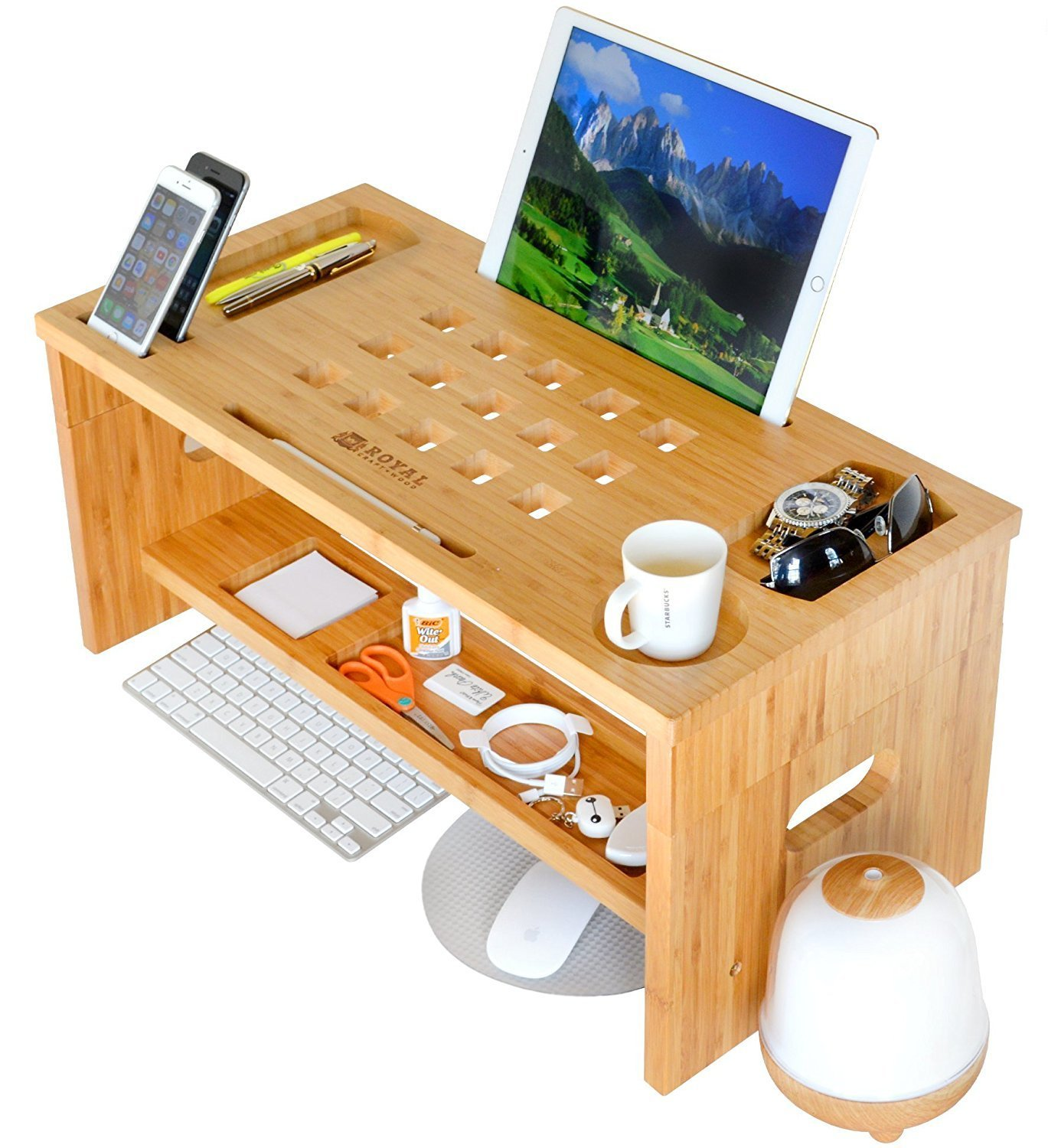 Amazon Com Royal Craft Wood Standing Desk For Back Pain Relief