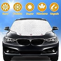 Rajvia Autovoorruit Cover Voorruit Zonnescherm, zonbestendig Anti-ijsvorming Stofdicht, opvouwbaar Vierlagige autohoes…