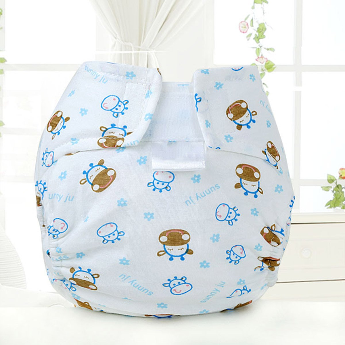 Baby Car Cow Cotton Pocket Diaper Cloth Diaper Cover White Aniwon Cloth Diapers