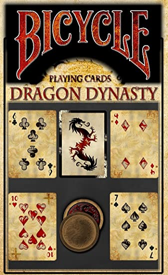 Amazon Com Uspcc Bicycle Dragons Dynasty Limited Edition Custom Playing Cards Authentic Oriental Rare Deck Toys Games