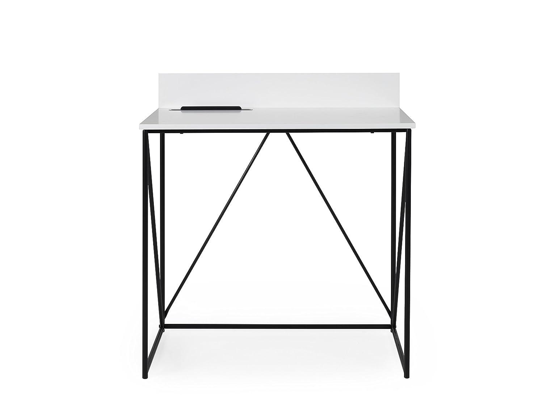 Tenzo Tell Bureau 80 x 48 x 75 cm Blanc//Noir Bois