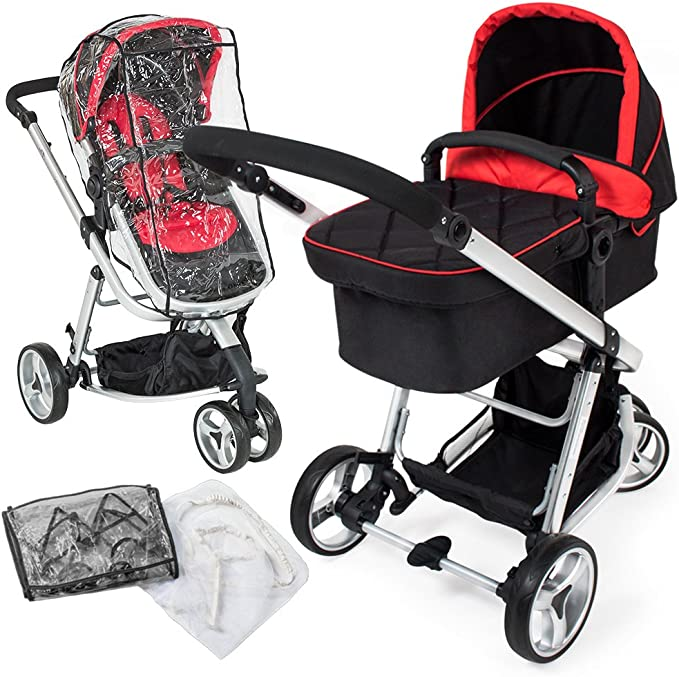 TecTake 3 en 1 Poussette Canne de Voyage Voiture d'Enfants Baby Confort Jogger - diverses couleurs au choix