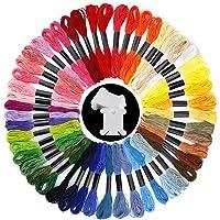 50 madejas de hilo de bordar de colores