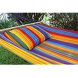 Caribe Grande Paradiso MacaTex - wetterfeste XL Stabhängematte original aus Südamerika multicolor
