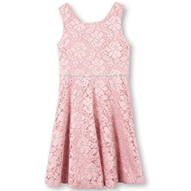 ca4be88c77 Amazon.com  Speechless Girls  Big Sparkle Lace Skater Dress with ...