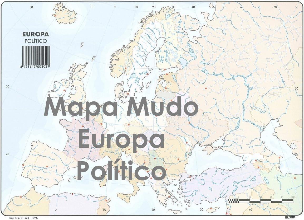 Mapa Mudo SELVI Color Din-A4 Europa Político, Caja x50: Amazon.es ...
