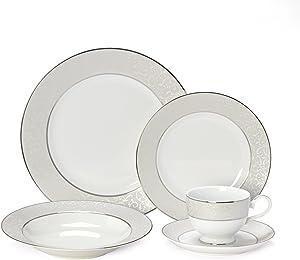 Mikasa Parchment 40-Piece Dinnerware Set, Service for 8