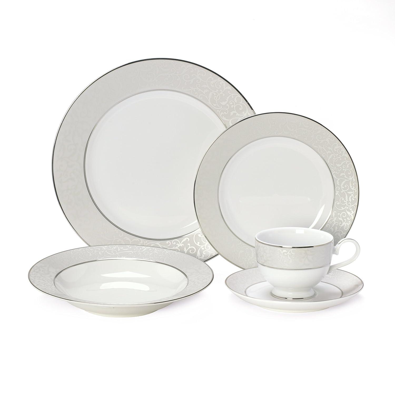 Amazon.com | Mikasa 5224232 Parchment White 40-Piece Dinnerware Set Service for 8 Dinnerware Sets  sc 1 st  Amazon.com & Amazon.com | Mikasa 5224232 Parchment White 40-Piece Dinnerware Set ...