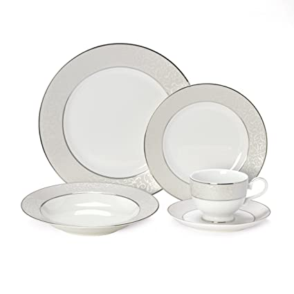 Mikasa Parchment 40-Piece Dinnerware Set Service for 8  sc 1 st  Amazon.com : mikasa plate set - pezcame.com