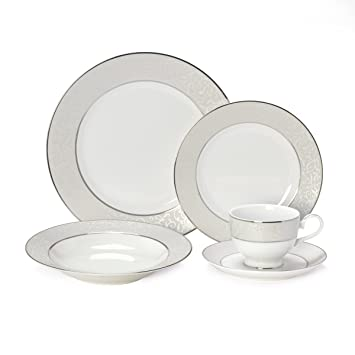 Amazon.com | Mikasa Parchment 40-Piece Dinnerware Set Service for 8 Parchment Mikasa China Dinnerware Sets  sc 1 st  Amazon.com & Amazon.com | Mikasa Parchment 40-Piece Dinnerware Set Service for 8 ...