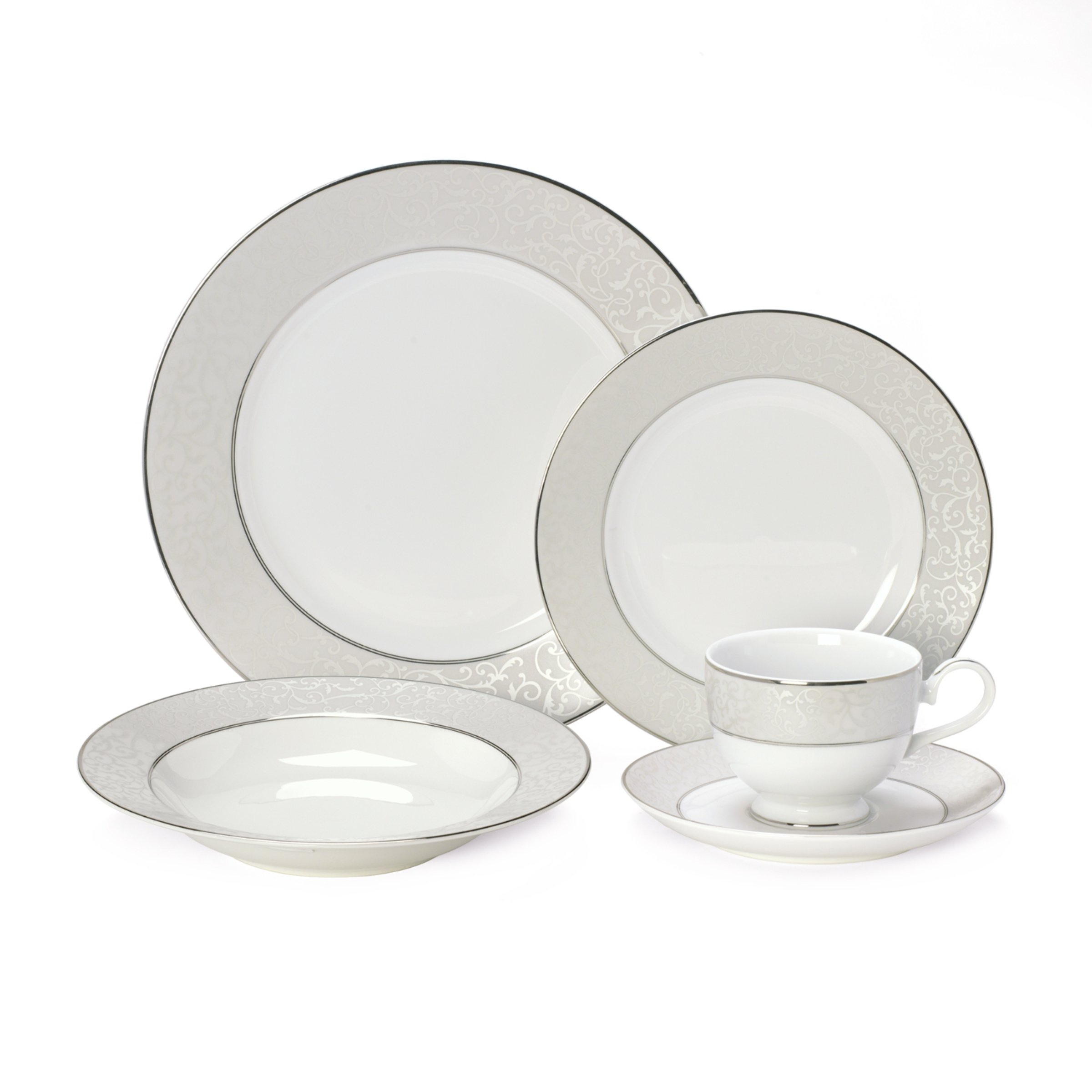 Mikasa Parchment 40-Piece Dinnerware Set, Service for 8 by Mikasa