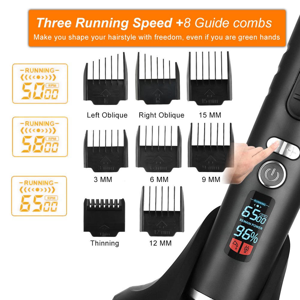 Professional Hair Clipper Haircut Kit, Cordless Hair Trimmer Rechargeable Beard Trimmer