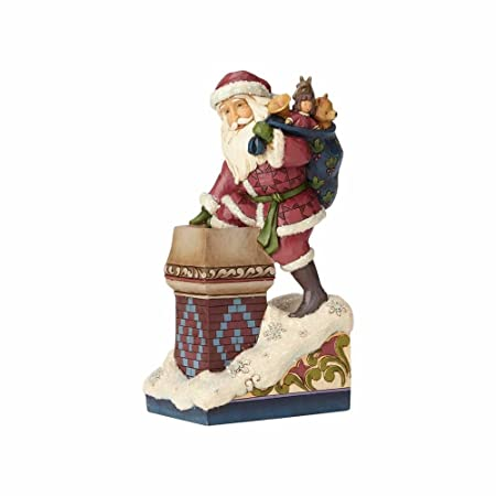 Enesco Jim Shore Heartwood Creek Making Magic Stone Resin Santa, 8 Figurine