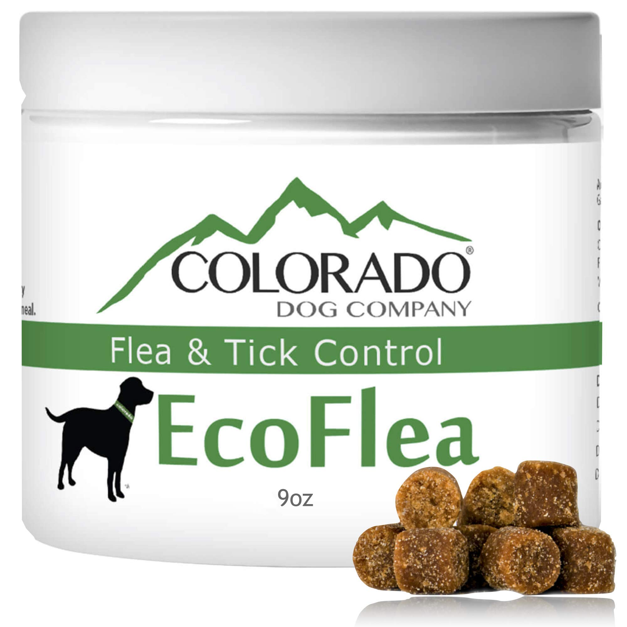 EcoFlea by ColoradoDog - 110 to 120 Count All Natural Chewable Dog Treats for Flea and Tick Treatment and Prevention by EcoFlea