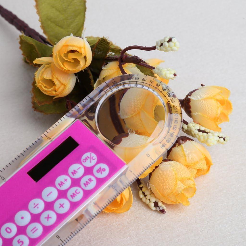 MB-LANHUA 10 cm R/ègle Mini Calculatrice Num/érique 2 en 1 Enfant Papeterie /École Bureau Cadeaux
