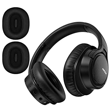 Mpow H7 Plus Auriculares Bluetooth Diadema con aptX, Orejeras Reemplazables, Cascos Bluetooth Inalámbricos con Micrófono, HiFi Calidad de Sonido para ...