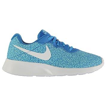 15994ff94c08b6 Nike Tanjun Print Sports Lifestyle Trainers Womens Blue Blue Sneakers Shoes  (UK4) (