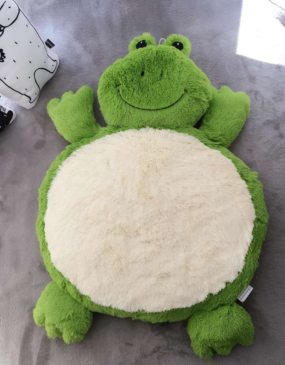 Kally Shop Baby Round Crawling Mat Cartoon Rugs Animal Design Kids Play Pad Extra-Thick Non-Toxic Soft Blanket Cushion for Kids Room Decoration (frog)