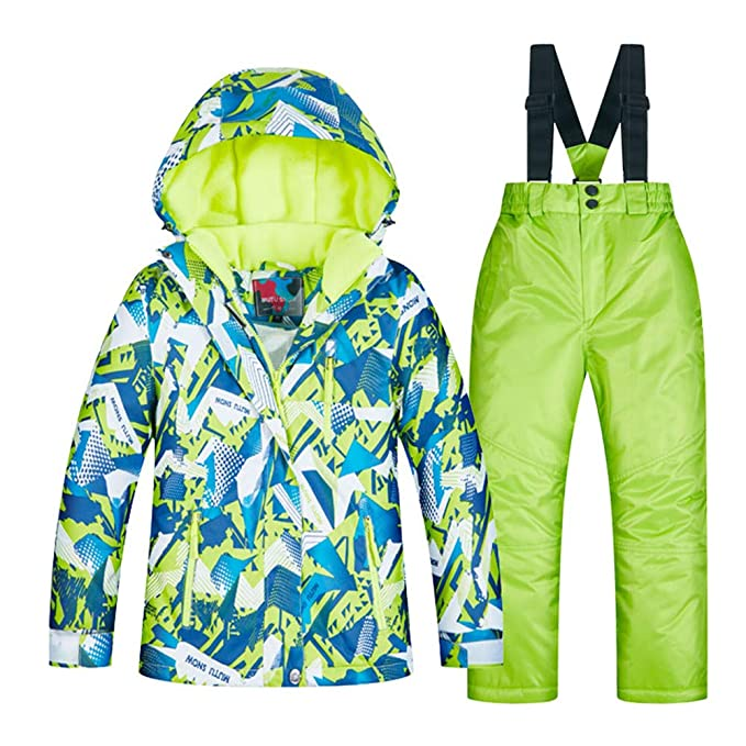 CXJC - Chándal de esquí para niños + Pantalones con Tirantes, Ropa ...