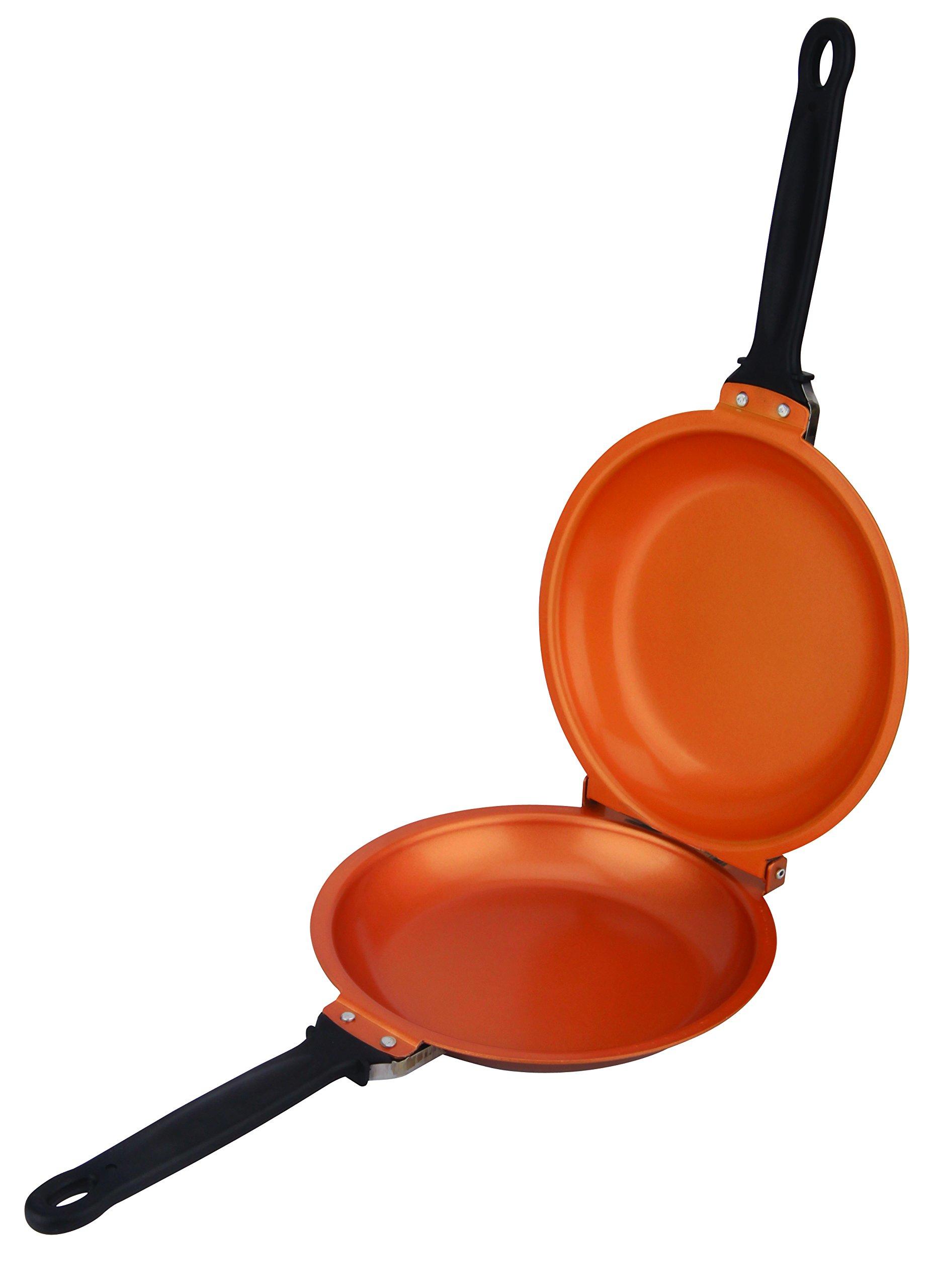 Pancake Copper Pans 8'' Non-Stick Flip Pancake Copper Pan