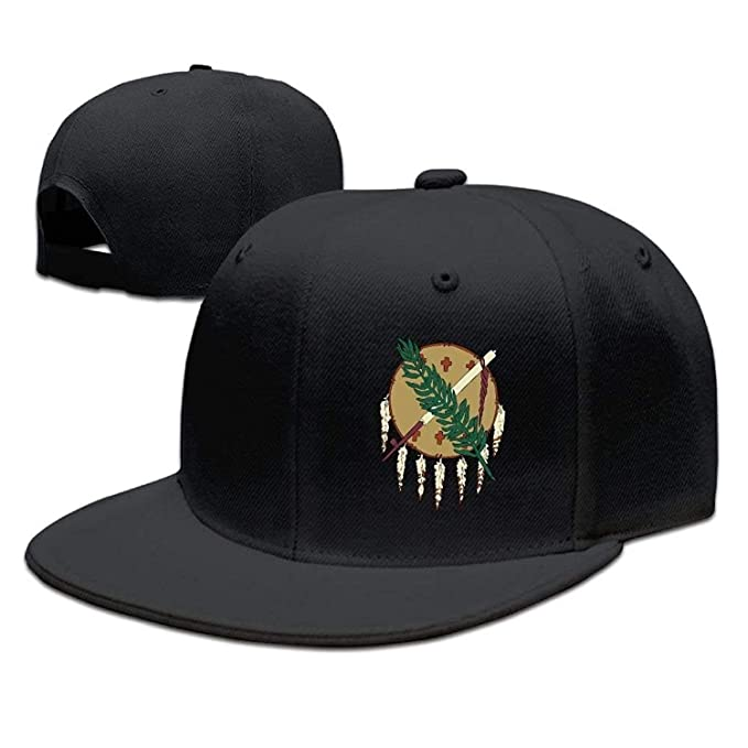 Oklahoma Flag Element Design Solid Hip Hop Snapback Baseball Cap Unisex Sunbonnet Hat.: Amazon.es: Ropa y accesorios
