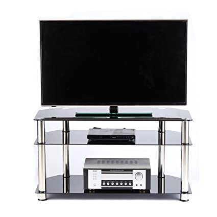 Amazoncom Rfiver Glass Corner Tv Stand For Most 26 27 28 30 32 37