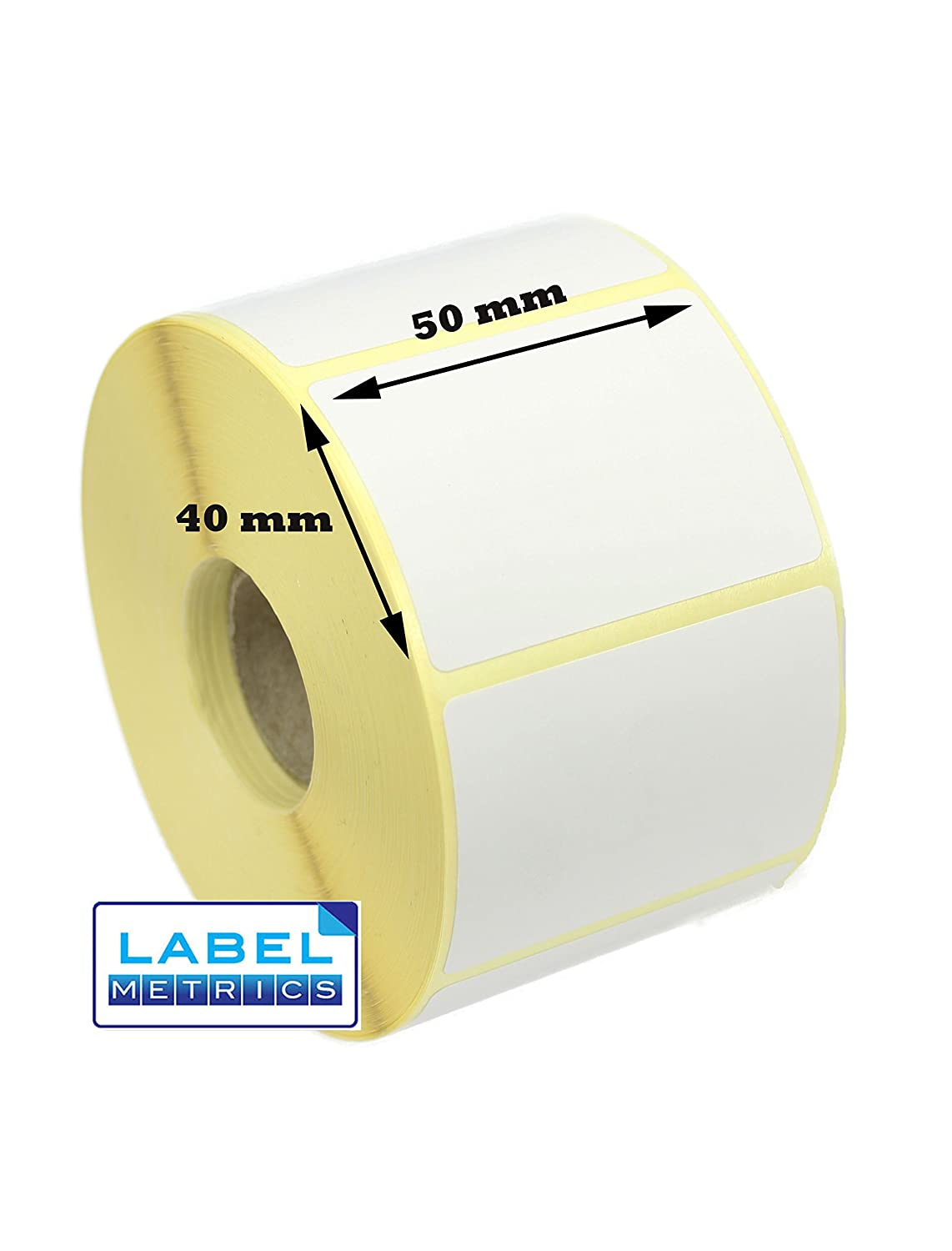 Business & Industrie Transport & Logistik 50mm x 25mm WHITE Direct Thermal Labels 2,000 per roll for Zebra type printer
