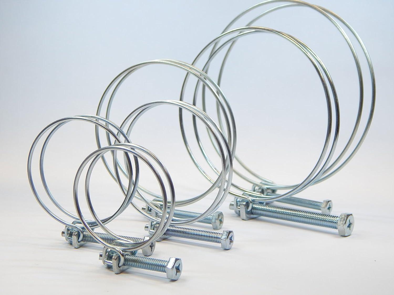 Drahtschlauchschelle Drahtschellen Schlauchschelle Spiralschlauch Luftschlauch 50-55mm Schlauch24