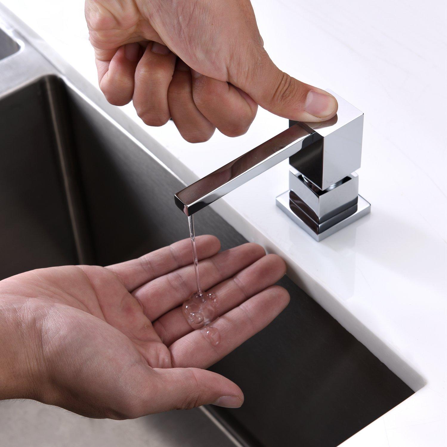 LAZADA Modern Chrome Built in Pump Kitchen Sink Dish Soap Dispenser, Dish Kitchen Soap Dispenser Pump by Fonveth (Image #3)