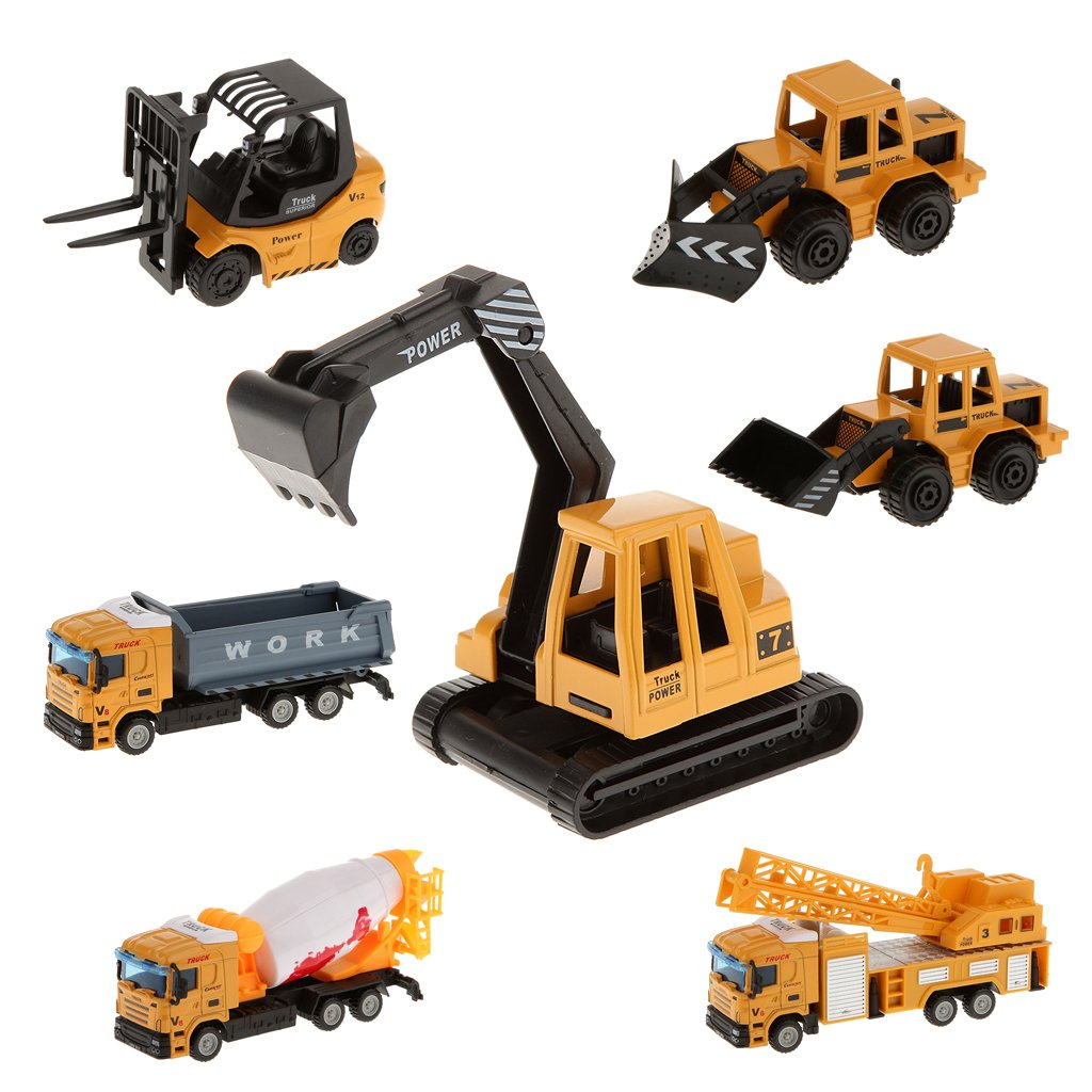 amazoncom magideal mini 164 diecast cement mixer truck model alloy vehicle lorry cars toys toys games