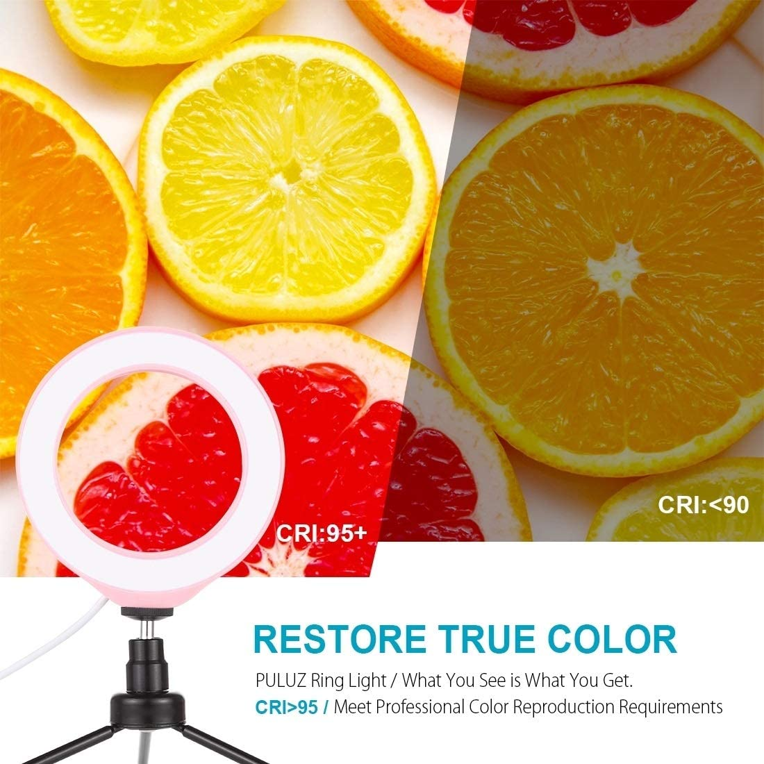Color : Pink HUANGMENG Accessory 6.2 inch USB 3 Modes Dimmable LED Ring On-Camera Video Lights with Cold Shoe Tripod Ball Head HUANGMENG
