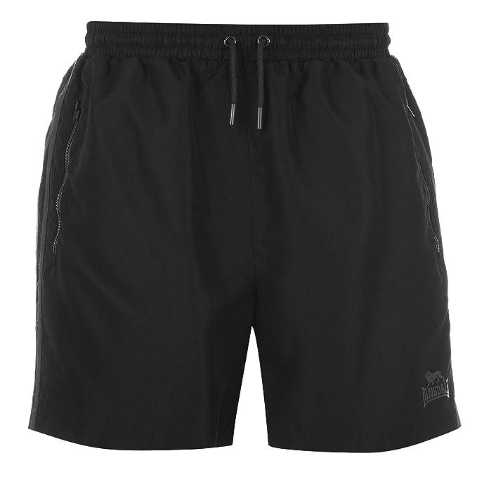 Lonsdale Hombre 2 Rayas Woven Pantalones Cortos Shorts
