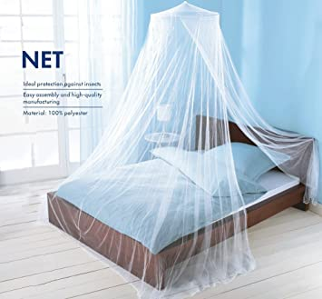 Yanglovele Round Hoop Bed Canopy Netting Mosquito Bedding Net Fit Crib Twin Full & Amazon.com: Yanglovele Round Hoop Bed Canopy Netting Mosquito ...
