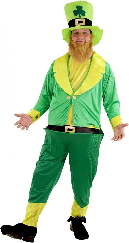 Foxxeo Divertido Disfraz de Duende irlandés Verde para Hombres ...